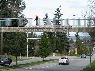 Sunnyside, Surrey - Semiahmoo Trail Pedestrian Overpass over 148th Street