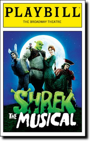 Shrek The Musical - Broadway Playbill cover