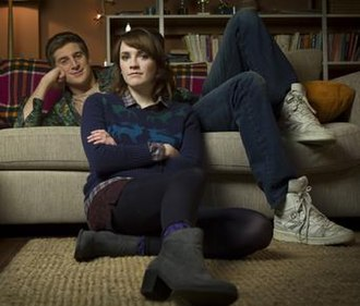 Siblings (TV series) - Tom Stourton and Charlotte Ritchie