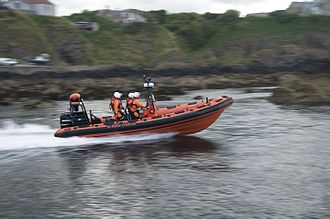 St Abbs - St Abbs Lifeboat the Thomas Tunnock is based in St Abbs