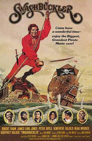 Swashbuckler (film) - original film poster by John Solie