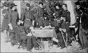 Thomas O. Osborn - Osborn (seated, left) and his staff during the American Civil War
