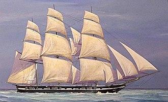 Naval Battle of Campeche - The Texan sloop-of-war Austin.