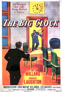 <i>The Big Clock</i> (film) 1948 film by John Farrow
