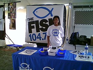 WFSH-FM - Image: The FISH booth GIHP