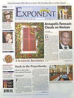 The Jewish Exponent - The November 27, 2007 front page of The Jewish Exponent
