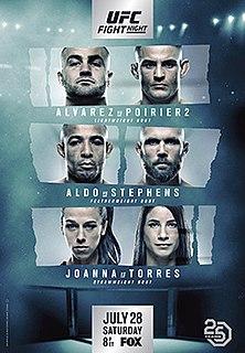 UFC on Fox: Alvarez vs. Poirier 2 UFC mixed martial arts event in 2018