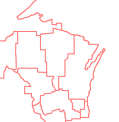 USA Wisconsin BSA council boundaries.png