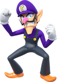 Waluigi fictional video game character
