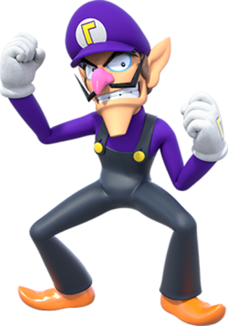 Waluigi - Waluigi as depicted in promotional artwork for Super Mario Party