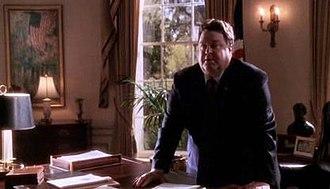 The West Wing - A 2003 plot twist has House Speaker Glen Allen Walken (John Goodman) become Acting President when Zoey Bartlet is kidnapped.