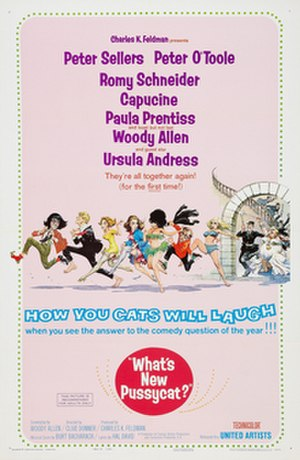 What's New Pussycat? - Theatrical release poster by Frank Frazetta