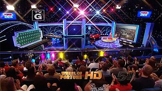 The current design of the Wheel of Fortune set, as seen on a Season 30 episode Wheel set.jpg