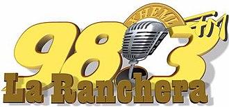 XHEML-FM - Image: XHEML La Ranchera 98.3 logo