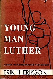 <i>Young Man Luther</i> 1958 book by Erik H. Erikson