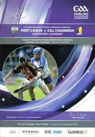 2008 All-Ireland Senior Hurling Championship Final - A programme for the 2008 final