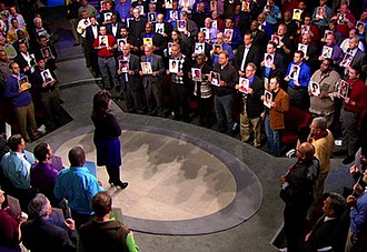 The Oprah Winfrey Show - Two hundred men who were molested stand together during a 2010 episode