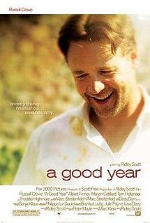 <i>A Good Year</i> 2006 film by Ridley Scott