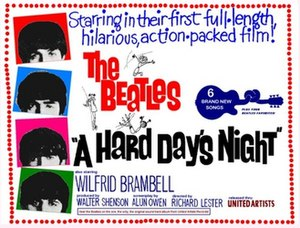 A Hard Day's Night (film) - Theatrical release poster