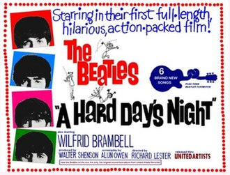 A Hard Day's Night (film) - UK theatrical release poster