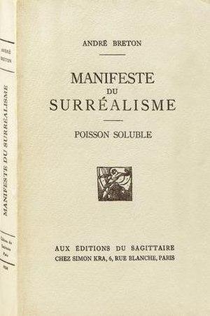 Surrealist Manifesto - André Breton, Manifeste du surréalisme, Éditions du Sagittaire, October 15, 1924