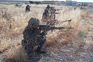 Armed Forces of Armenia - Snipers during a field exercise in 2004