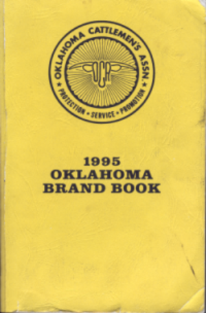 Brand Book - A Brand Book published by the Oklahoma Cattlemen's Association.