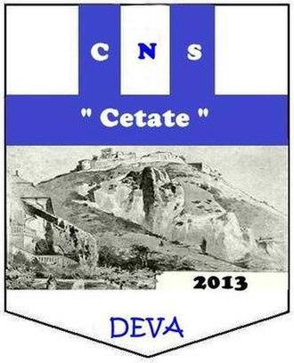 CNS Cetate Deva - Former logo between 2013 and 2016.