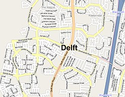 Street map of Delft