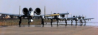 23rd Wing - A-10s on the flightline.