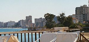Varosha viewed from Palm Beach Hotel [photo: RP 2005].