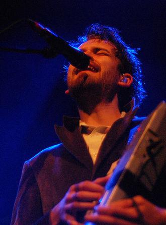 Fyfe Dangerfield - Dangerfield performing in Amsterdam, on 8 June 2008.
