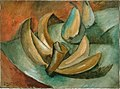Georges Braque, 1908, Cinq bananes et deux poires (Five Bananas and Two Pears), oil on canvas, 24 x 33 cm, Musée National d'Art Moderne.jpg