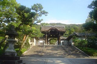 Mausoleum - The entrance to Higashi Otani Mausoleum in Kyoto, Japan.