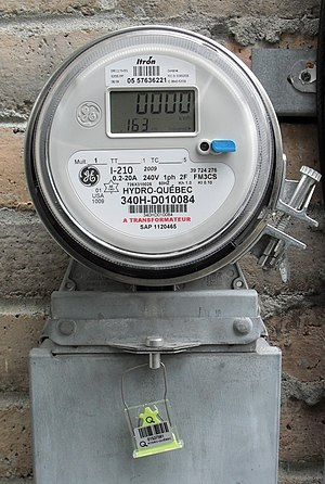 Electricity meter - North American domestic digital electricity meter.