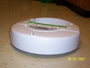 IRobot Create - This is an unmodified iRobot Create with Command Module (the small green attachment).