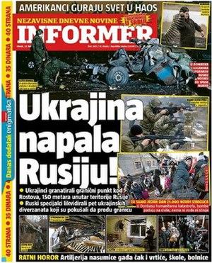 Informer (newspaper) - Image: Informer Cover
