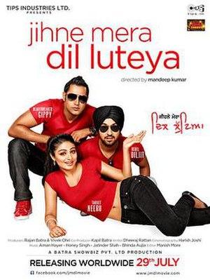 Jihne Mera Dil Luteya - Official film poster