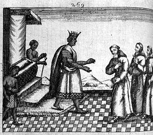 Garcia II of Kongo - King Garcia II of Kongo receiving missionaries