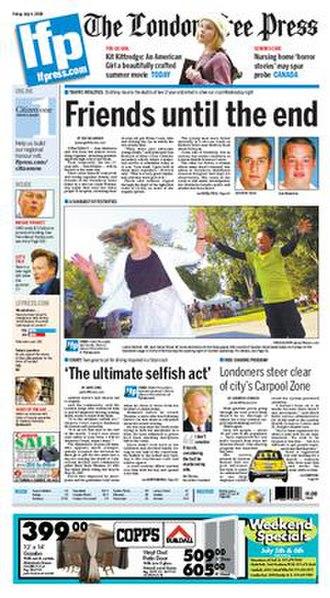 The London Free Press - Image: Lfpressfrontpage