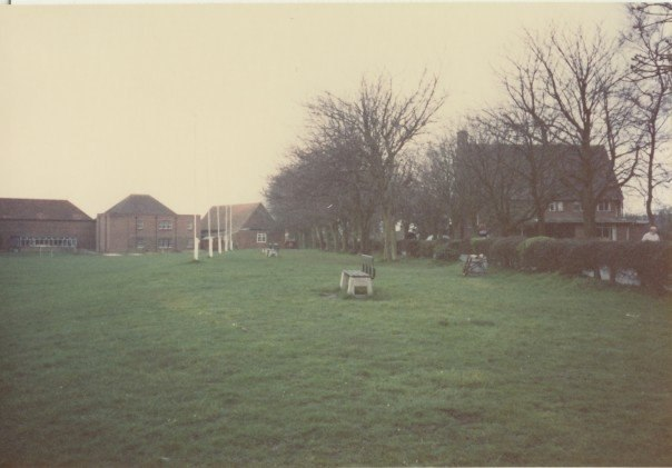 Main driveway, passing by the head master's house and the New House (Bembridge School, White Cliff Bay, Isle of Wight - 1988)