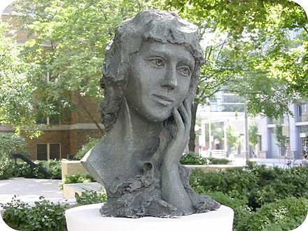 Bust of Mary Pickford on University Avenue, near her Toronto birthplace Mary Pickford bust.jpg