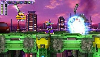 Mega Man X (video game) - The player uses the villain Vile to battle enemies in the PSP remake Mega Man: Maverick Hunter X.