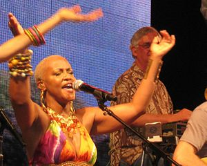 Nadirah Shakoor - Nadirah Shakoor performs with Jimmy Buffett's Coral Reefer Band in June 2009.