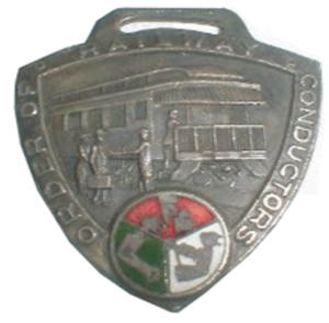 Order of Railway Conductors - Image: Order of Railway Conductors badge