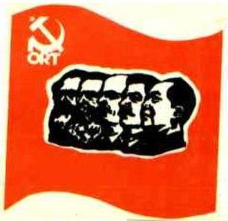 Workers' Revolutionary Organization (Spain) - ORT sticker (1977).