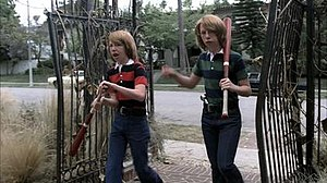 Pilot (American Horror Story) - Twins Brian and Troy planning to enter the Murder House