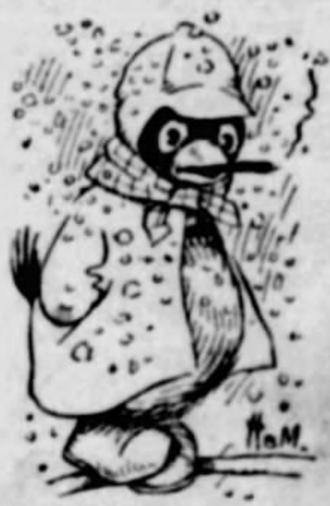 St. Louis Post-Dispatch - First appearance of the Weatherbird, February 11, 1901