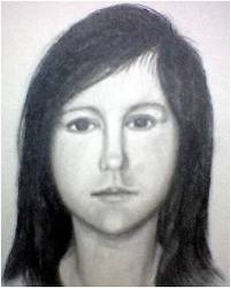 Princess Doe - Police sketch of Princess Doe after interviewing Donna Kinlaw