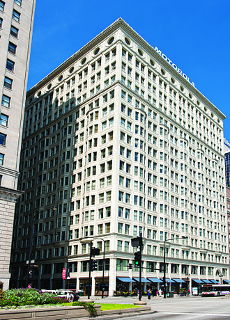 Chicago Architecture Foundation - Image: Railway Exchange Building from Michigan Avenue